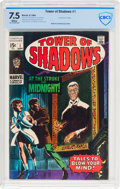 Silver Age (1956-1969):Horror, Tower of Shadows #1 (Marvel, 1969) CBCS VF- 7.5 White pages....