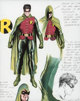 Alex Ross - Robin (Tim Drake) Redesign Hand-Colored Print Concept Artwork (c. 2000s).... (1)
