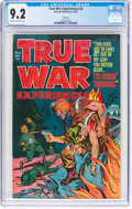 Golden Age (1938-1955):War, True War Experiences #3 File Copy (Harvey, 1952) CGC NM- 9.2 Creamto off-white pages....