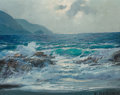 Fine Art - Painting, American, Alexander Dzigurski (Russian/American, 1911-1995). CarmelSeascape. Oil on canvas. 8 x 10 inches (20.3 x 25.4 cm).Signe...