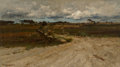 Fine Art - Painting, American, Robert Swain Gifford (American, 1840-1905). Path in aLandscape. Oil on canvas. 13 x 23 inches (33.0 x 58.4 cm).Signed ...