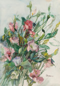 Works on Paper, Vivian Goddard (American, 1904-2005). Wildflowers, 1994. Watercolor on paper. 20-1/4 x 28 inches (51.4 x 71.1 cm). Signe...