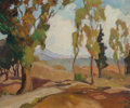 Fine Art - Painting, American, Irene Bowen Robinson (American, 1891-1973). Rolling Hills,California. Oil on canvas. 20 x 24 inches (50.8 x 61.0 cm).S...