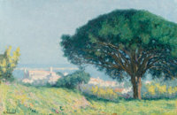 Raymond Thibésart (French, 1874-1968) Cannes Cote d'Azur Oil on canvas 21 x 31-3/4 inches (53.3 x