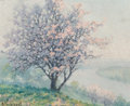 Paintings, Raymond Thibésart (French, 1874-1968). Printemps. Oil on canvas. 13 x 16 inches (33.0 x 40.6 cm). Signed lower left: R...