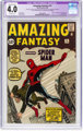 Amazing Fantasy #15 (Marvel, 1962) CGC Apparent VG 4.0 Extensive (B-5) Off-white pages.... (1)