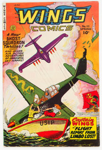 Wings Comics #111 (Fiction House, 1950) Condition: VF-