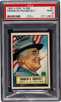 Non-Sport Cards:General, 1952 Topps Look 'N See Franklin Roosevelt #1 PSA Mint 9 - Pop One, None Higher! ...