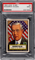 Non-Sport Cards:General, 1952 Topps Look 'N See Woodrow Wilson #2 PSA Mint 9 - Pop Two, None Higher. ...