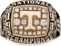 Football Collectibles:Others, 1998 University of Tennessee Volunteers National Championship Ring Presented to Running Back Travis Henry. ...