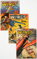 Golden Age (1938-1955):War, Wings Comics #80, 83, and 120 Group (Fiction House, 1947-53)Condition: Average VG.... (Total: 3 Comic Books)