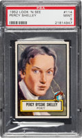 Non-Sport Cards:General, 1952 Topps Look 'N See Percy Shelley #114 PSA Mint 9 - Only OneHigher....