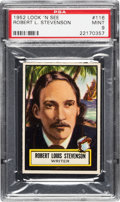Non-Sport Cards:General, 1952 Topps Look 'N See Robert L. Stevenson #116 PSA Mint 9 - PopOne, None Higher! ...