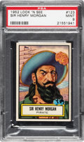 Non-Sport Cards:General, 1952 Topps Look 'N See Sir Henry Morgan # 123 PSA Mint 9 - NoneHigher....