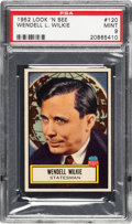 Non-Sport Cards:General, 1952 Topps Look 'N See Wendell L. Wilkie #120 PSA Mint 9 - Pop Two, None Higher. ...