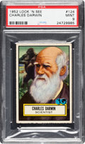 Non-Sport Cards:General, 1952 Topps Look 'N See Charles Darwin # 124 PSA Mint 9 - Pop Three,None Higher. ...