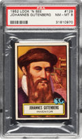 Non-Sport Cards:General, 1952 Topps Look 'N See Johannes Gutenberg # 129 PSA NM-MT 8 - NoneHigher. ...