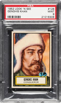 Non-Sport Cards:General, 1952 Topps Look 'N See Genghis Khan # 128 PSA Mint 9 - Pop Five,None Higher. ...