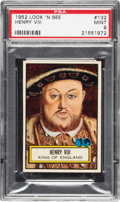 Non-Sport Cards:General, 1952 Topps Look 'N See Henry VIII # 132 PSA Mint 9 - Pop Two, None Higher....