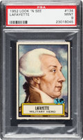 Non-Sport Cards:General, 1952 Topps Look 'N See Lafayette # 134 PSA Mint 9 - Pop Four, None Higher.. ...