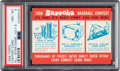 Baseball Cards:Singles (1950-1959), 1958 Topps Contest Card (July 8) PSA NM-MT 8 - One Higher....
