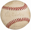 Autographs:Baseballs, 1940 New York Yankees Team Signed Baseball (21 Signatures) from The Joe DiMaggio Collection...