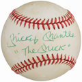 "Autographs:Baseballs, Mickey Mantle ""The Mick"" Single Signed Baseball...."