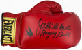 """Boxing Collectibles:Autographs, Jake LaMotta """"Raging Bull"""" Signed Boxing Glove. ..."""