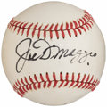 Autographs:Baseballs, Hall of Fame Multi-Signed Baseball with DiMaggio, Kaline, Aaron, & Marichal (4 Signatures)....