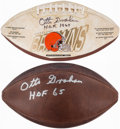 Autographs:Footballs, Otto Graham Signed Football Lot of 2....