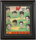 Baseball Collectibles:Others, 1950s P.F. Flyer Cardboard Advertising Display Featuring Mickey Mantle....