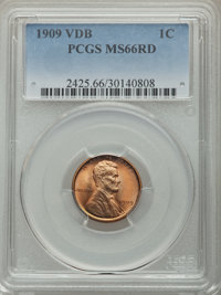 1909 1C VDB MS66 Red PCGS. PCGS Population: (2607/296). NGC Census: (1333/90). CDN: $215 Whsle. Bid for problem-free NGC...