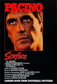 "Scarface (Universal, 1983) Rolled, Very Fine-. One Sheet (27"" X 39.5"") SS Advance. Crime"