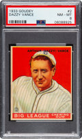 Baseball Cards:Singles (1930-1939), 1933 Goudey Dazzy Vance #2 PSA NM-MT 8 - None Higher! ...
