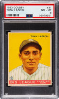 Baseball Cards:Singles (1930-1939), 1933 Goudey Tony Lazzeri #31 PSA NM-MT 8 - None Higher! ...