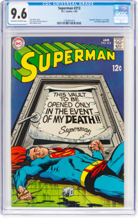 Superman #213 (DC, 1969) CGC NM+ 9.6 Off-white to white pages