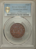German East Africa:German Colony, German East Africa: German Colony. Wilhelm II Pesa 1890 MS64 BrownPCGS,...