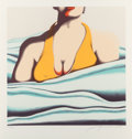 Prints & Multiples, Jack Brusca (1939-1993). The Beach, 1979. Screenprint in colors on wove paper. 27-1/2 x 26 inches (69.9 x 66 cm) (sheet)...