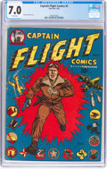 Golden Age (1938-1955):War, Captain Flight Comics #2 (Four Star, 1944) CGC FN/VF 7.0 White pages....