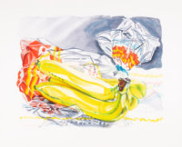 Janet Fish (b. 1938) Bag of Bananas, 1996 Etching with aquatint in colors on wove paper 24-1/2 x