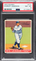 Baseball Cards:Singles (1930-1939), 1933 Goudey Charley Jamieson #171 PSA NM-MT 8 - None Higher. ...