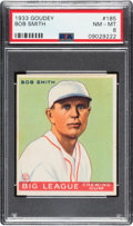 Baseball Cards:Singles (1930-1939), 1933 Goudey Bob Smith #185 PSA NM-MT 8 - Only Two Higher. ...