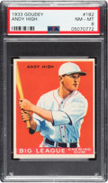 Baseball Cards:Singles (1930-1939), 1933 Goudey Andy High #182 PSA NM-MT 8. ...