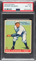 Baseball Cards:Singles (1930-1939), 1933 Goudey George Walberg #183 PSA NM-MT 8 - Only One Higher. ...