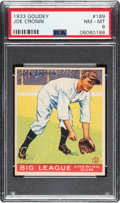 Baseball Cards:Singles (1930-1939), 1933 Goudey Joe Cronin #189 PSA NM-MT 8 - None Higher. ...