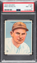 Baseball Cards:Singles (1930-1939), 1933 Goudey Fred Schulte #190 PSA NM-MT 8 - None Higher. ...