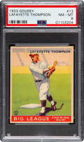 Baseball Cards:Singles (1930-1939), 1933 Goudey Lafayette Thompson #13 PSA NM-MT 8 - Only Two Higher....