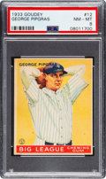 Baseball Cards:Singles (1930-1939), 1933 Goudey George Pipgras #12 PSA NM-MT 8 - None Higher. ...