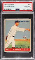 Baseball Cards:Singles (1930-1939), 1933 Goudey Horace Ford #24 PSA NM-MT 8 - Only One Higher. ...