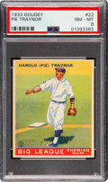 Baseball Cards:Singles (1930-1939), 1933 Goudey Pie Traynor #22 PSA NM-MT 8 - Only One Higher. ...